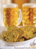 Фото к рецепту: Печенье с сыром и оливками