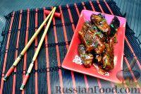 Фото к рецепту: Баклажаны в соево-имбирной карамели