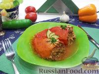 Фото к рецепту: Фаршированный перец, тушенный в духовке