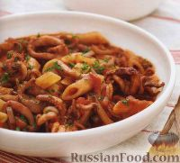 Фото к рецепту: Паста с кальмарами