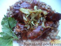 Фото к рецепту: Печенка в томатном соусе
