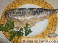 Фото к рецепту: Скумбрия, запеченная с горчицей