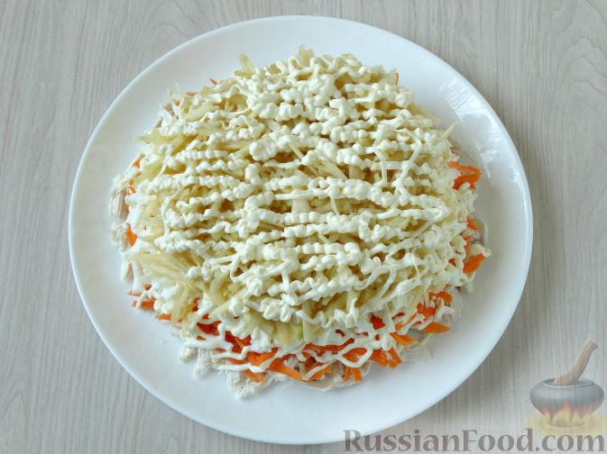 рецепт салат с курицей и яблоком и сыром и