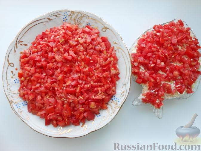 слоеный крабовый салат рецепт с фото