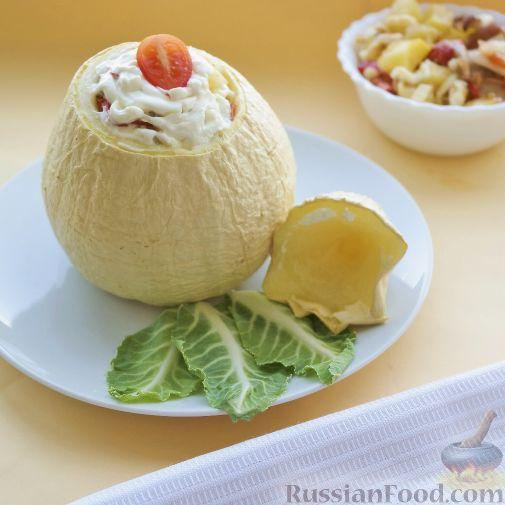 Фото к рецепту: Овощное рагу с мясом в тыкве-кувшинчике