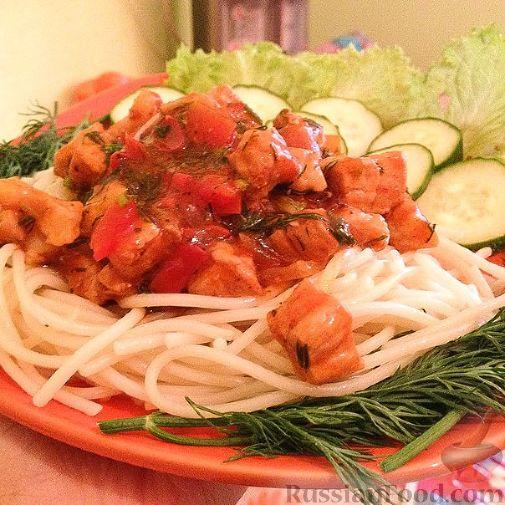 рецепт спагетти с мясом и томатной пастой