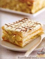 Фото к рецепту: Пирог из слоеного теста с заварным кремом