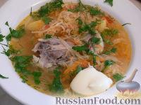 Фото приготовления рецепта: Щи с квашеной капустой и курицей - шаг №6