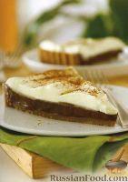 Фото к рецепту: Песочный пирог с шоколадом и сливками