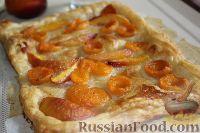Фото к рецепту: Слоеный пирог с фруктами
