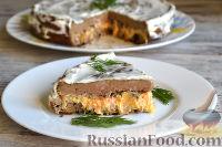 Фото к рецепту: Печеночный торт для мужчин