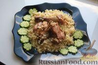 Фото к рецепту: Курица со специями, приготовленная с рисом в мультиварке