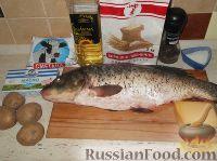 Фото приготовления рецепта: Карп, запеченный в сметане - шаг №1