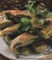 Фото к рецепту: Омлет с мясом и каштанами