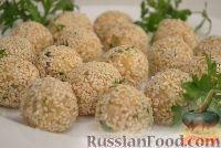 Фото приготовления рецепта: Закусочные шарики с печенью трески - шаг №6