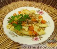 Фото к рецепту: Макароны с тыквой и фаршем