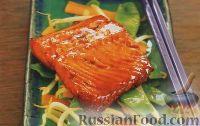 Фото к рецепту: Лосось, запеченный под соусом терияки