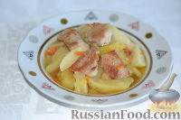 Фото к рецепту: Картошка с мясом (в мультиварке)