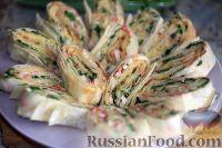 Фото к рецепту: Рулеты из лаваша