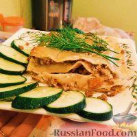 Фото к рецепту: Лазанья по-русски (вариант без соуса Бешамель)