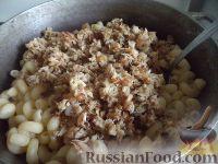 Фото приготовления рецепта: Макароны по-флотски с курицей и сыром - шаг №7