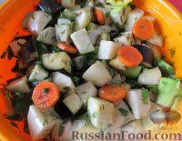 Фото приготовления рецепта: Овощное рагу с курицей - шаг №11