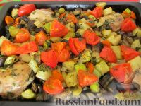 Фото приготовления рецепта: Овощное рагу с курицей - шаг №16