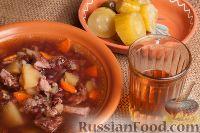 Фото к рецепту: Фасолевый суп на косточках