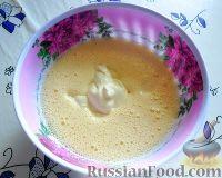 Фото приготовления рецепта: Заливной пирог со сливами - шаг №3