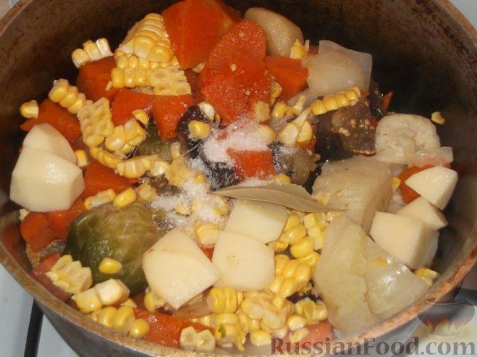 Овощное рагу на сковороде рецепт с фото