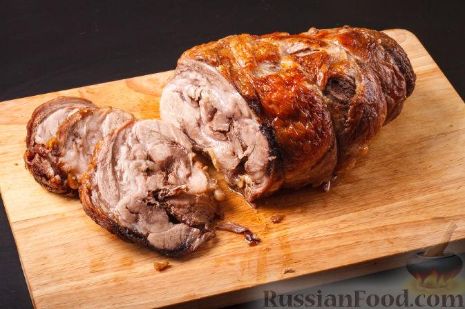 Рулет из свинины с грибами в духовке рецепты