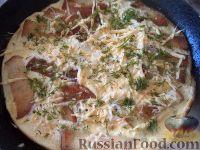 Фото к рецепту: Омлет с ломтиками хлеба