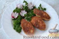 Фото к рецепту: Котлеты из куриного фарша с начинкой