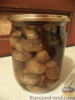 Фото к рецепту: Шампиньоны консервированные