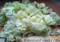 Фото приготовления рецепта: Салат из пекинской капусты с кукурузой - шаг №1