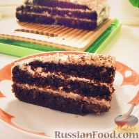 Фото к рецепту: Торт из интересного бисквита
