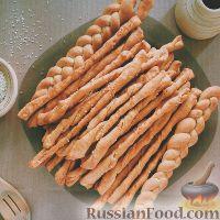 Фото к рецепту: Хлебные сырные палочки