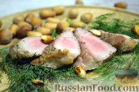 Фото к рецепту: Стейк с лесными орехами