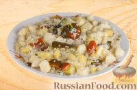 Фото к рецепту: Рагу с картошкой и рисом (в казане)