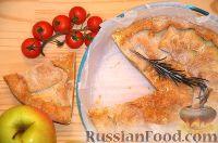 Фото к рецепту: Итальянский соленый пирог с сыром и ветчиной