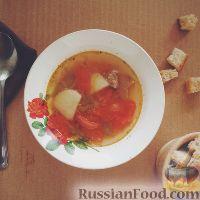 Фото к рецепту: Овощной суп на свиной лопатке