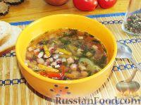 Фото к рецепту: Фасолевый суп с болгарским перцем
