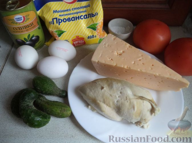 салат арбузная долька без курицы рецепт
