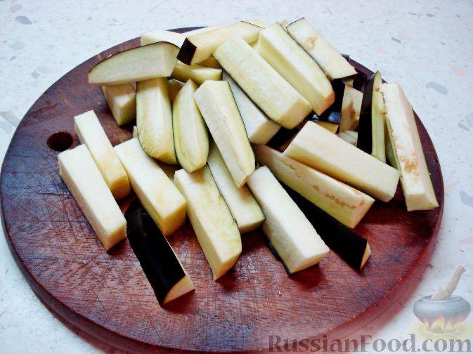Фото приготовления рецепта: Баклажаны, заправленные лимонно-медовой карамелью - шаг №2