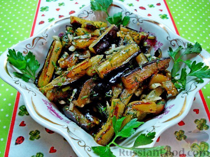 Салаты на зиму из жареных баклажан рецепты