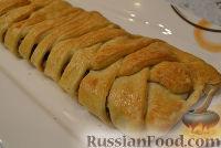 Фото к рецепту: Пирог с фаршем и шампиньонами