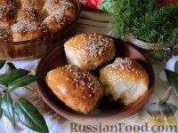 Фото к рецепту: Пирожки в духовке (с картофелем и печенью)