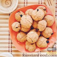 Фото к рецепту: Песочное печенье с изюмом