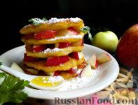 Фото к рецепту: Яблочные оладушки