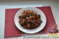 Фото приготовления рецепта: Соте из баклажанов, перца и помидоров - шаг №6